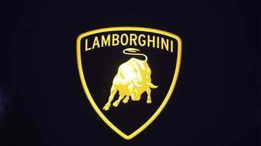 Lamborghini sign is shown at the North American