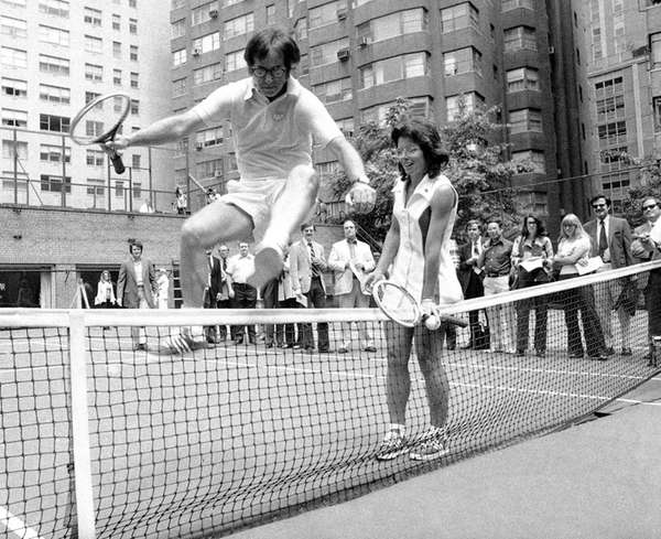 Wimbledon Champ Billie Jean King holds down the
