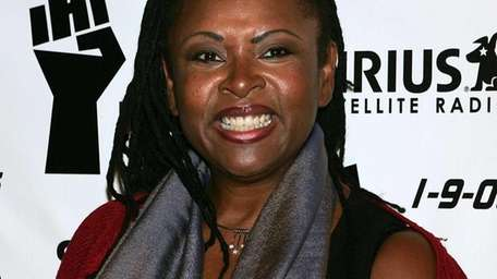 Radio personality Robin Quivers arrives at a luncheon