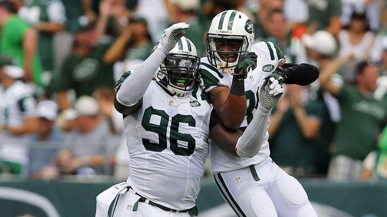 Muhammad Wilkerson celebrates his sack of Tampa Bay