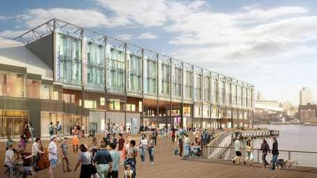 A rendering of the South Street Seaport redevelopment.