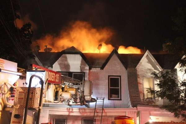 A massive fire at 78-15 68th Ave. in