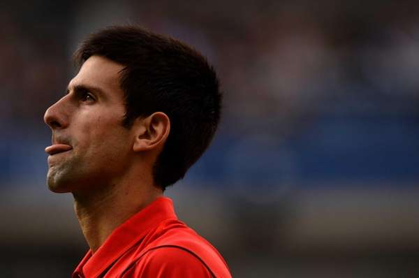 Novak Djokovic reacts during his men's singles final