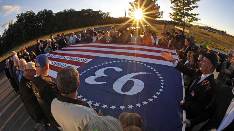 Visitors to the Flight 93 National Memorial in