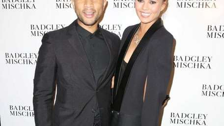 John Legend and Chriss Teigen at the Badgley