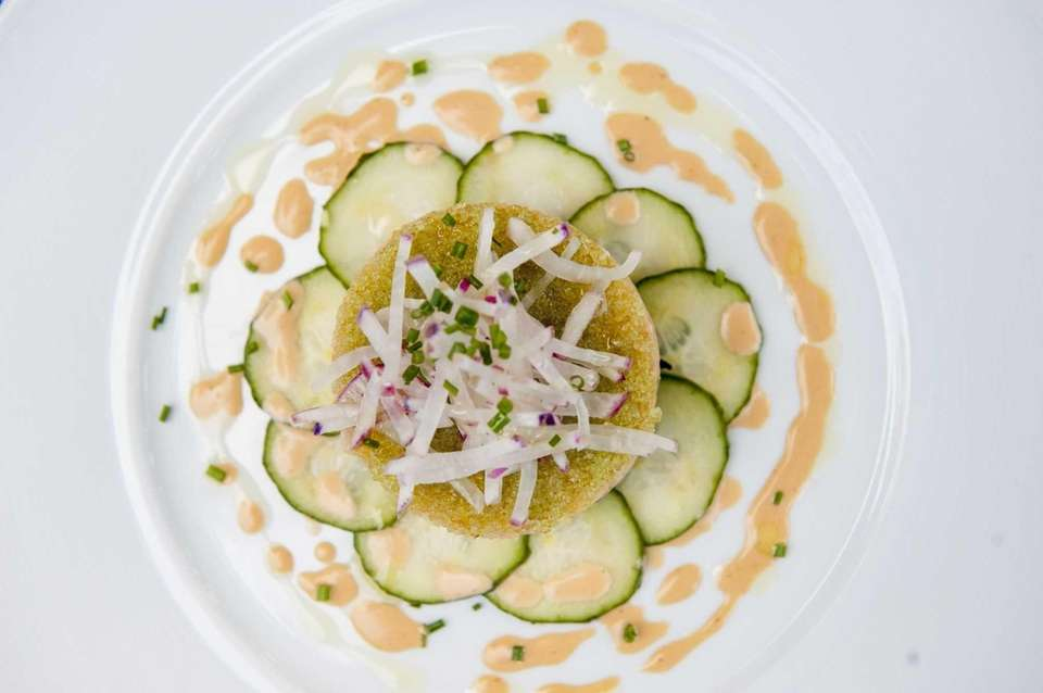 The Montauk fluke tartare is perfect at The