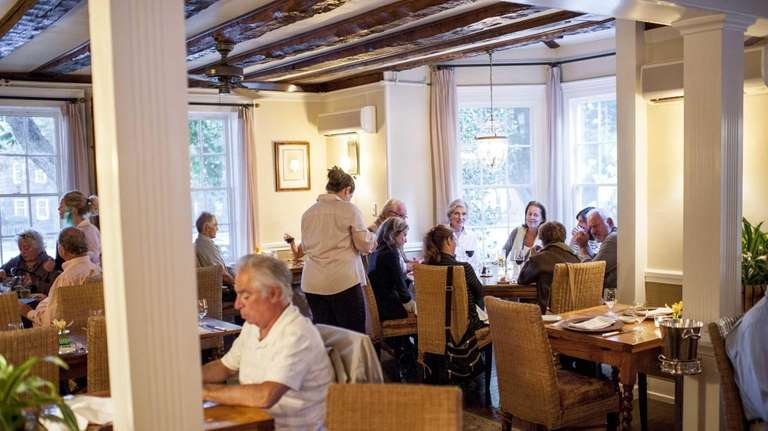 Diners in the main dining room at The