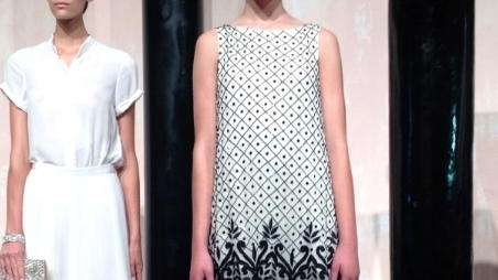 Models pose at the Alice + Olivia Spring