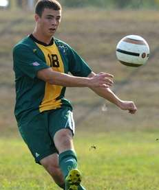 Lynbrook's Brendan Tedaldi makes a pass during the