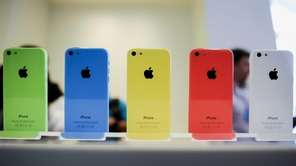 Several colors of Apple's iPhone 5C during their