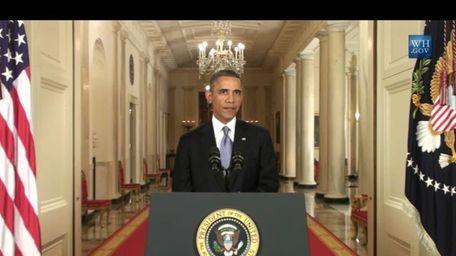 President Barack Obama gives a speech on Syrian