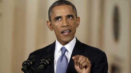 President Barack Obama speaks during a televised address