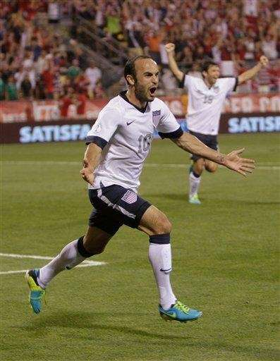 United States' Landon Donovan celebrates his goal against