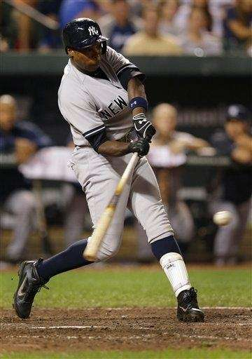 Yankees' Alfonso Soriano hits a two-run home run
