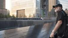 George Kanaly visits the North Tower Reflecting Pool