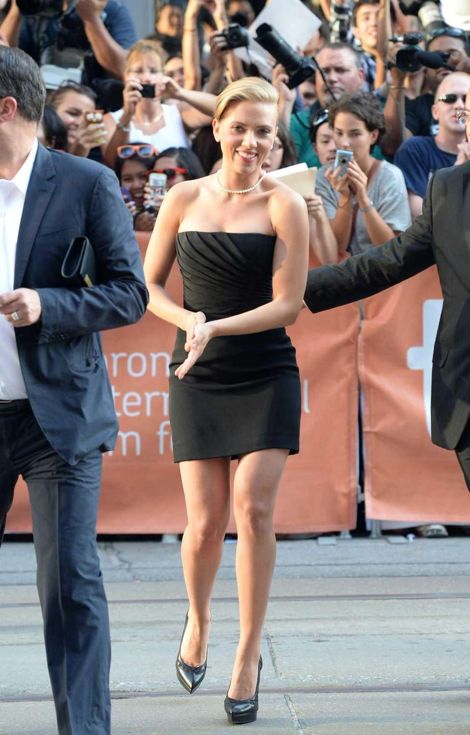 Scarlett Johansson arrives at the