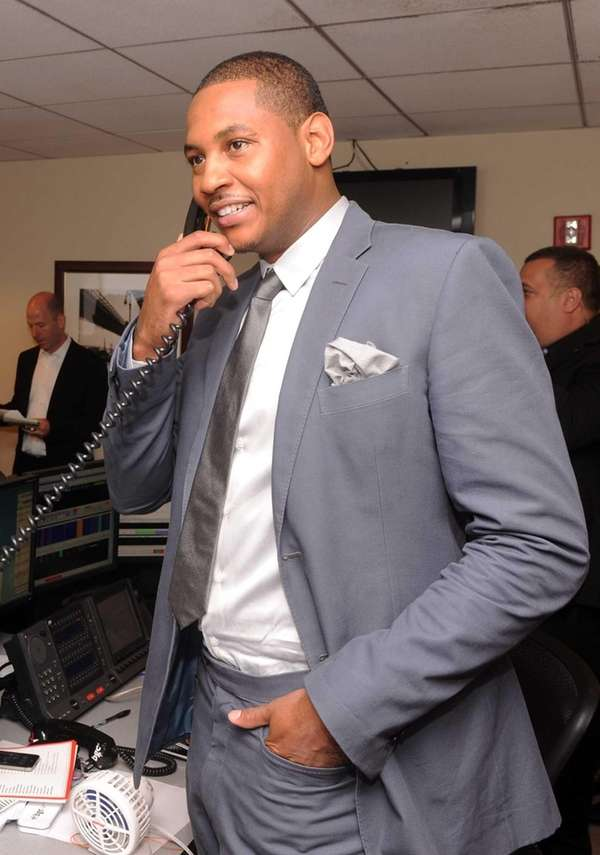 Carmelo Anthony attends the annual charity day hosted