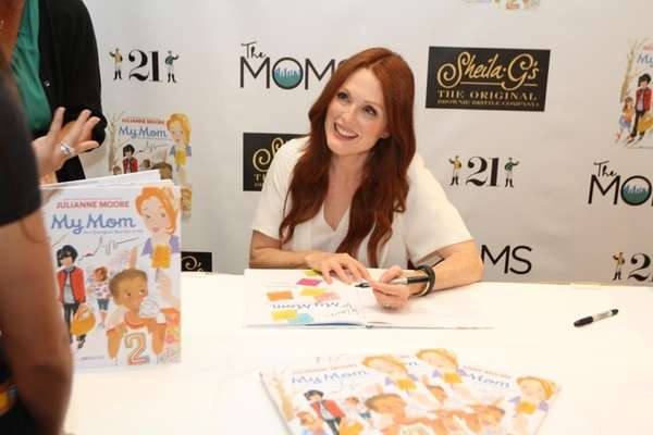 Julianne Moore signs copies of her new book,