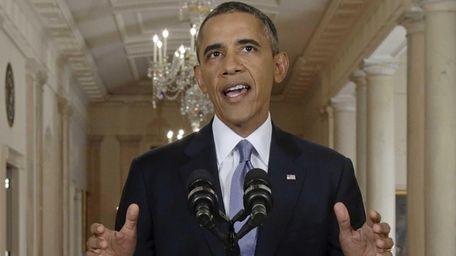 President Barack Obama addresses the nation in a