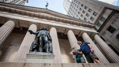 The Federal Hall National Museum in the Financial
