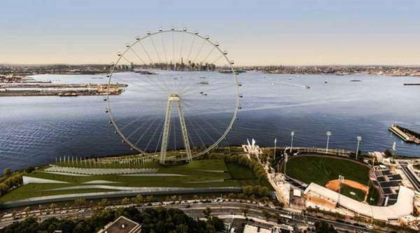 A rendering of Staten Island Ferris Wheel plan