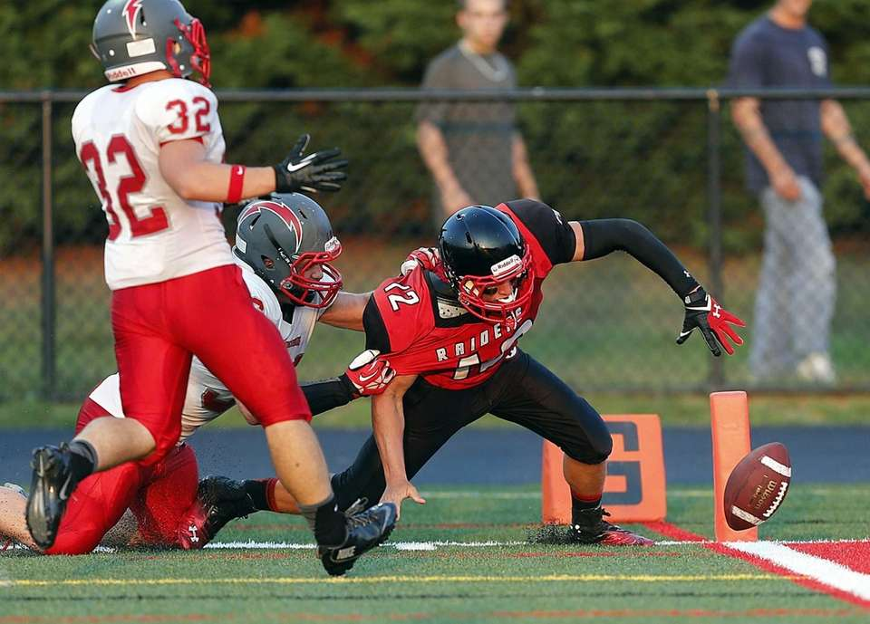 On a key play, Connetquot's Mike Ansaldi strips