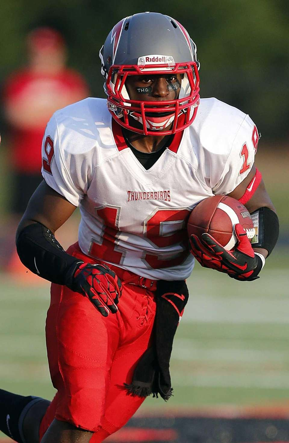 Connetquot running back Marcus Gutierrez runs from scrimmage