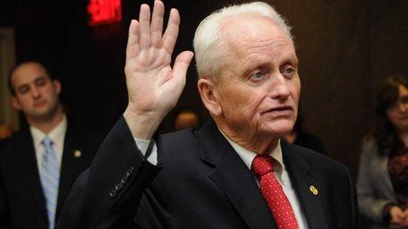 Suffolk County Legislative presiding officer William J. Lindsay,