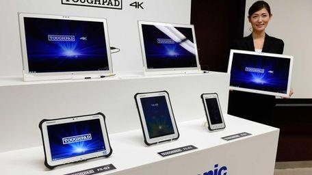 A model of Japan's electronics giant Panasonic introduces