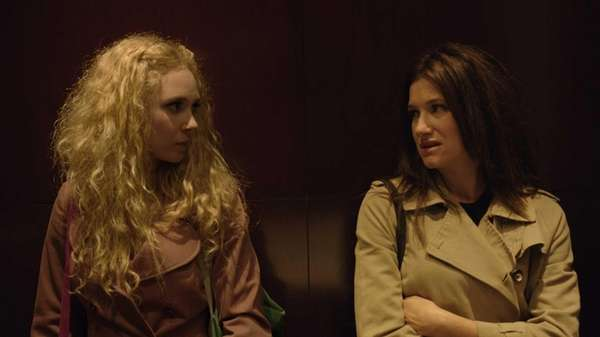 Juno Temple, left, and Kathryn Hahn in