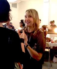 Designer Rebecca Taylor smiles backstage before her New