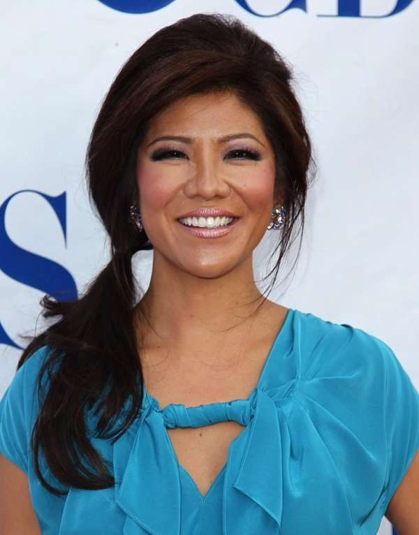 Julie Chen arrives at CBS's 1st National TV