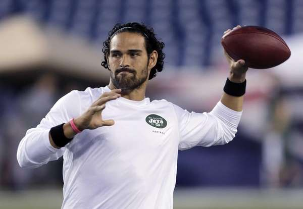 Mark Sanchez, who normally throws righthanded, throws a