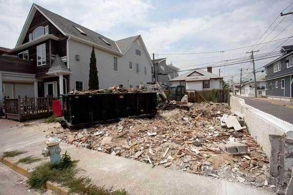A demolished house on Tennessee Avenue in Long