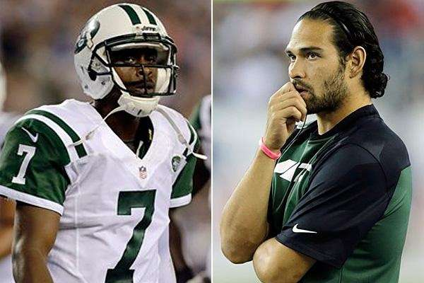 In this Associated Press composite, Jets quarterbacks Geno