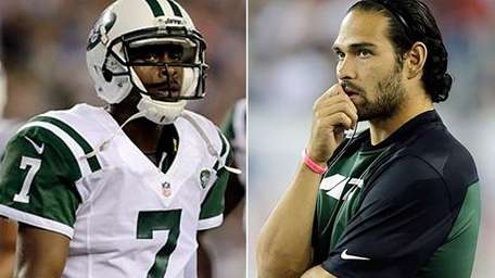 In this Associated Press composite, Jets quarterbacks Geno