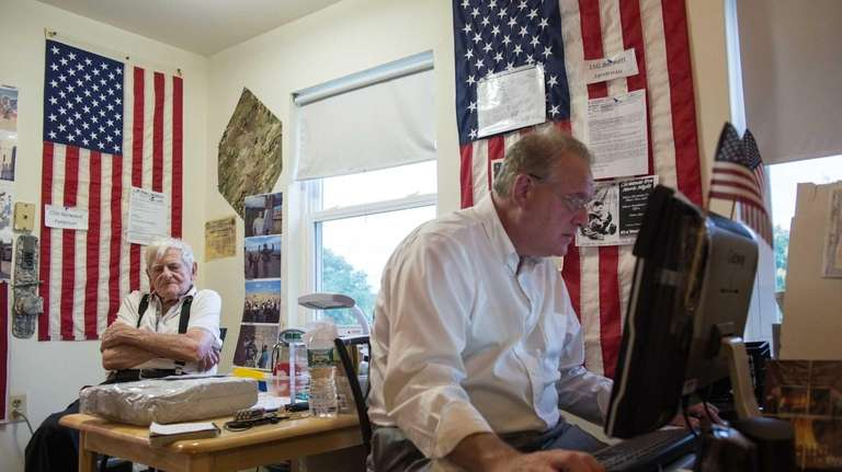 Arthur Strachman writes emails to troops overseas for
