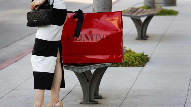 A woman on Rodeo Drive in Beverly Hills,