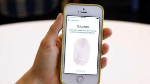 The new iPhone 5S with fingerprint technology is