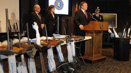 Nearly 140 guns, 15 of them assault rifles,