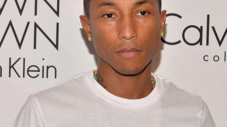Musician Pharrell Williams attends the Calvin Klein Collection