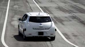 The Nissan Autonomous Drive Leaf electric vehicle is