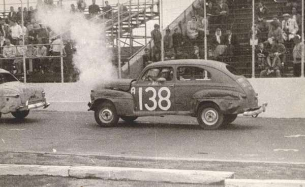 Bill Domjan of Melville in the 1947 Ford