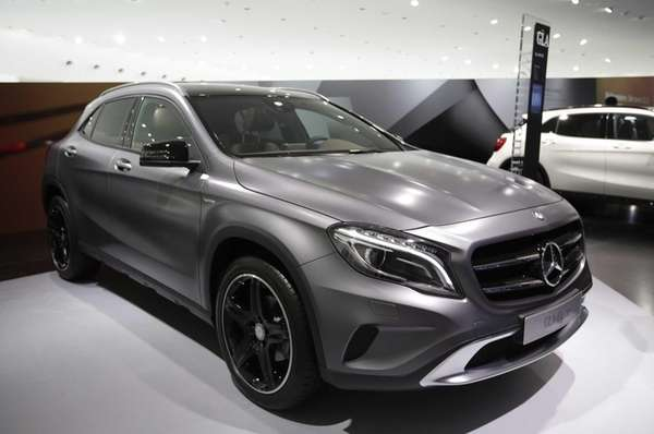 A Mercedes-Benz GLA compact SUV automobile, produced by