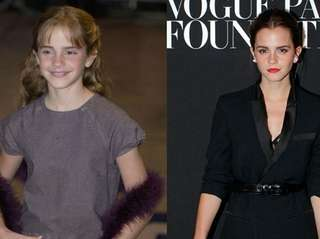 Emma Watson, who plays Hermione Granger, arrives for