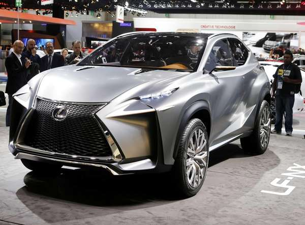 The Lexus LF-NX concept car is presented during
