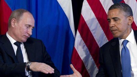 President Barack Obama and Russia's President Vladimir Putin