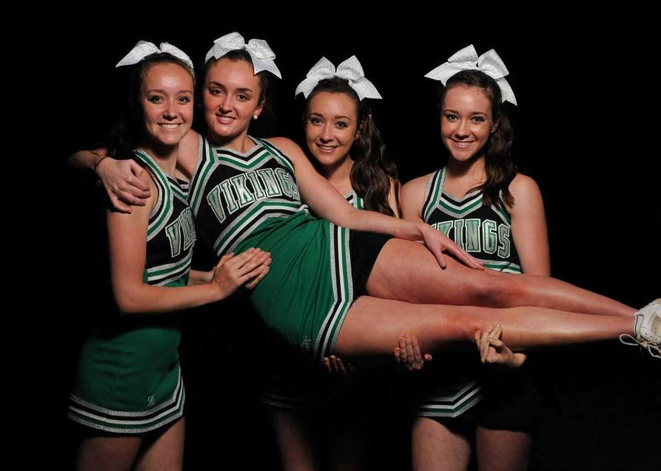 Seaford senior Mackenzie Meyer, second from left, and