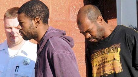 Latif Davis, 22, left, and his father Sheldon