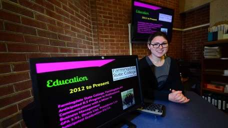 Farmingdale State College student Lisa Millstein, 19, a